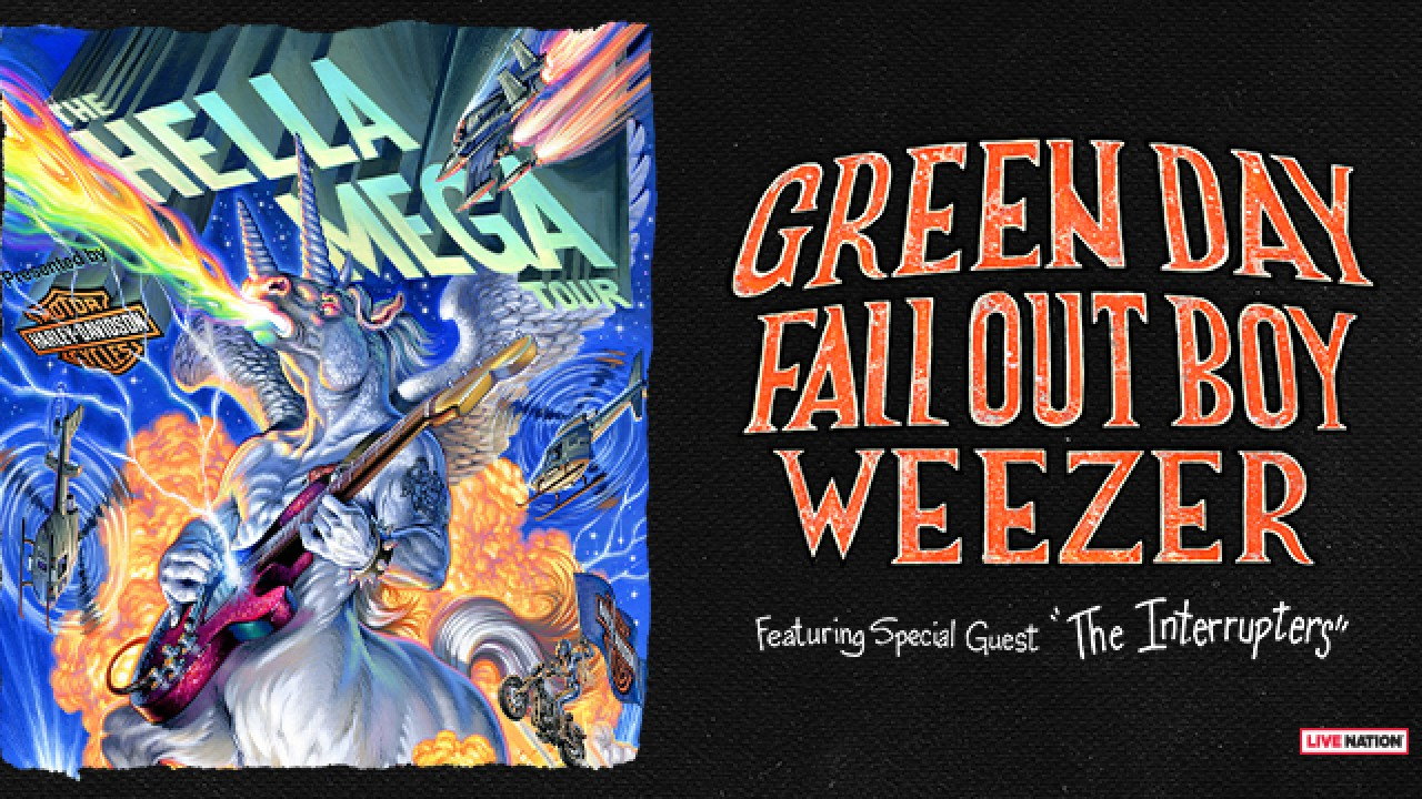 Weezer Tour 2020.Green Day Fall Out Boy And Weezer Team Up For A 2020